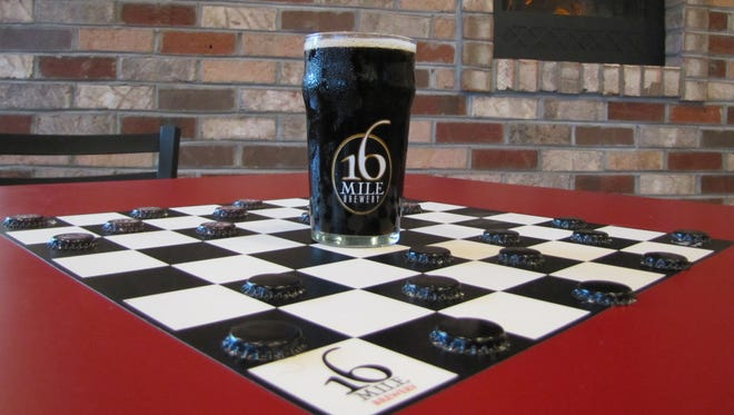 16 Mile Brewing Company's Delaware Oyster Stout.