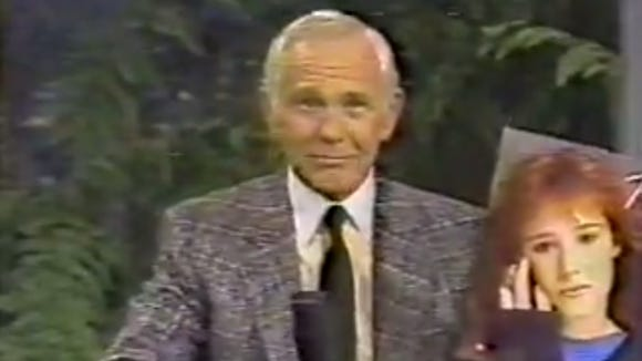 """Tiffany on """"The Tonight Show with Johnny Carson"""" in 1987."""