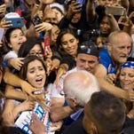 Bernie Sanders campaigns on May 17, 2016, in Carson, Calif.