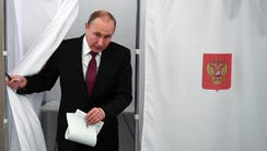 Russian President and Presidential candidate Vladimir