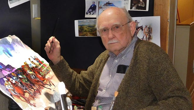 Kentucky artist Jim Cantrell, whose art will be part of the official Kentucky Derby and Kentucky Oaks posters and other items for 2017.