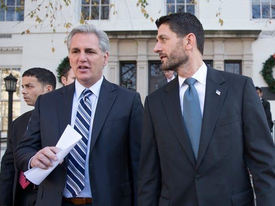 House Speaker Paul Ryan, R-Wis., right, and Majority