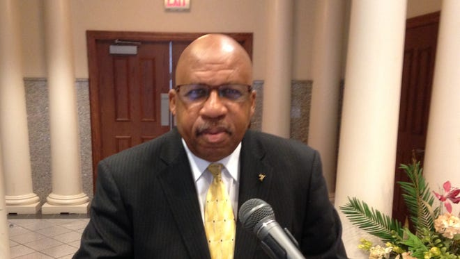 James Baxter announced his candidacy for mayor of Jackson at a news conference at City Hall on Tuesday.