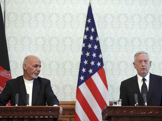 Jim Mattis,Ashraf Ghani