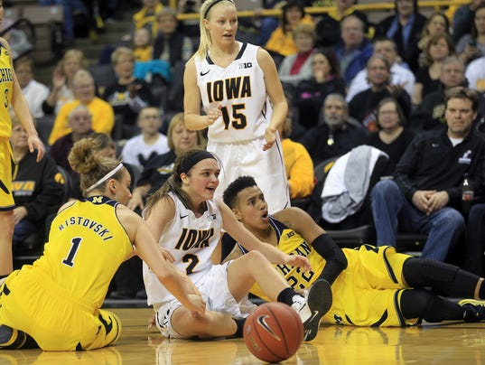 -IOW 0123 Iowa wbb vs michigan 01.jpg_20150122.jpg