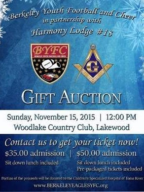 Flyer for our Gift Auction on November 15, 2015