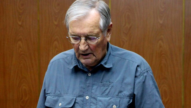 In this photo released by the Korean Central News Agency, detained U.S. citizen Merrill Newman, 85, reads a document, which North Korean authorities say was an apology.