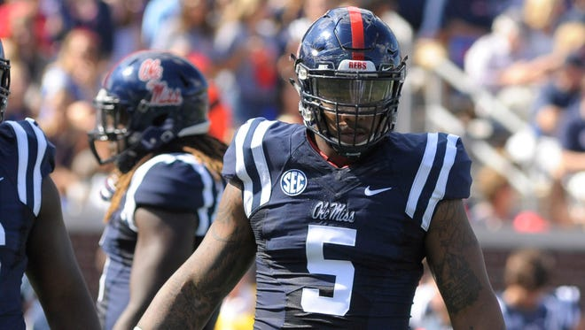 Ole Miss defensive tackle Robert Nkemdiche posted career-highs in tackles and tackles for loss despite missing seven quarters.