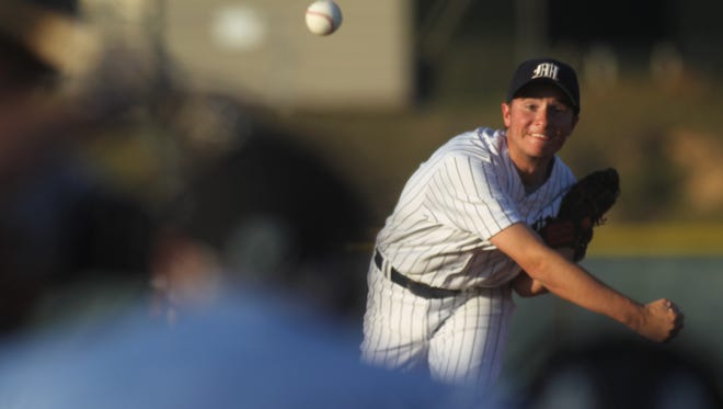 Maclay's Grant Harrison threw a complete game in a 5-1 win over St. John Paul II in a District 1-3A semifinal.