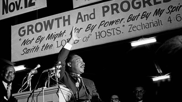 The Rev. Martin Luther King Jr., who was on a tour
