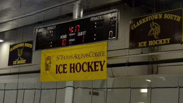 Clarkstown is hosting Suffern at Palisades Center Ice Rink.