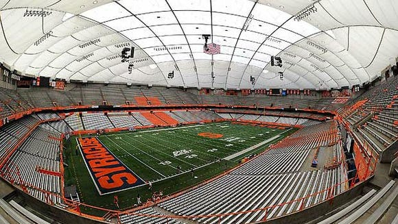 The Carrier Dome at Syracuse University will host the NYSPHSAA state football championships Nov. 24 and 26, 2017.
