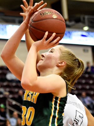 York Catholic's Katy Rader led the Irish in Tuesday's win over Penns Valley with 13 points. YORK DISPATCH FILE PHOTO
