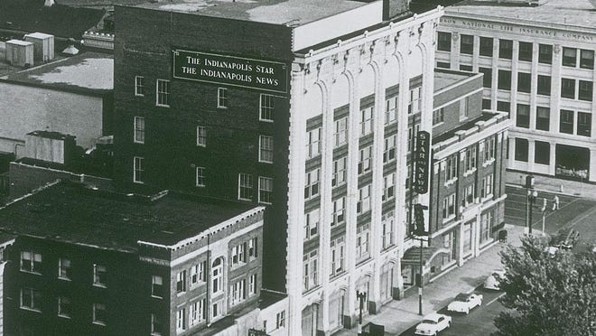 A 1949 photo reveals The Star's piecemeal past. Star researchers say at least three buildings were joined together and bricked over into one big, red monolith.