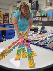 Jessica Whitman, a third-grade math teacher at Cunningham