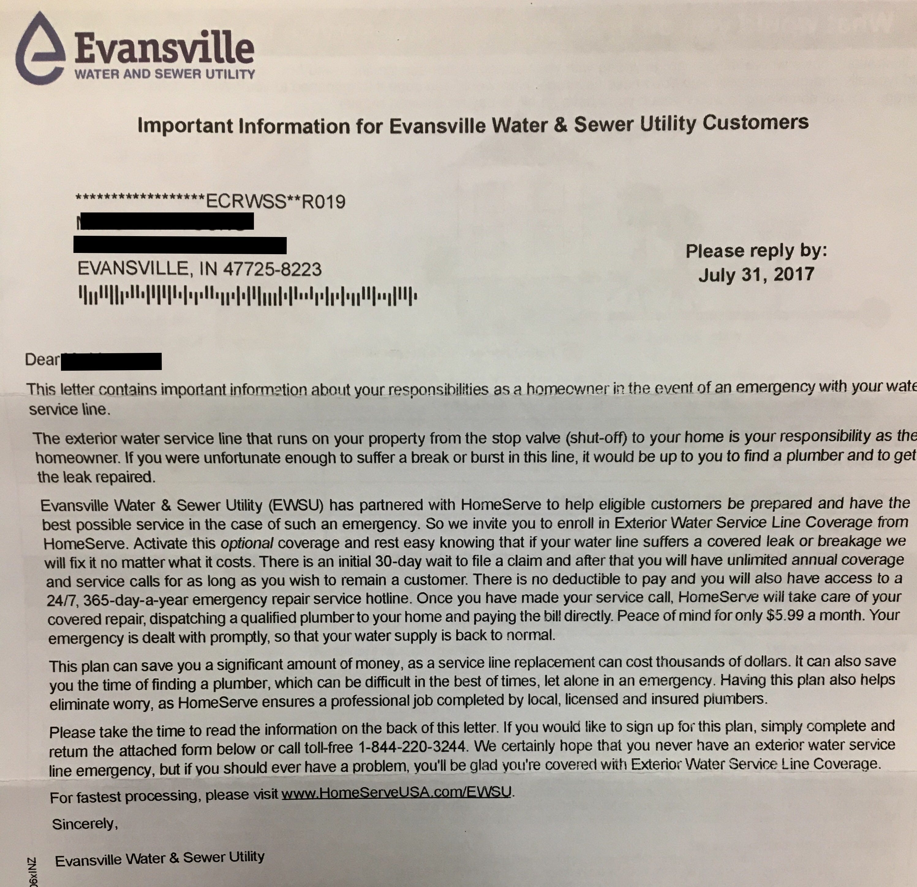 Evansville sewer replacement project essay