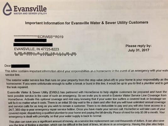 HomeServe letter