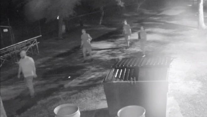 Buena Vista Township released this image of four people it believes are  responsible for damage at Michael Debbi Park.
