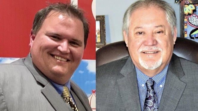 Incumbent Mayor Chris Cannon (left) is seeking reelection to a third term. Former Council Member Ron Ramirez (right) is challenging Cannon for the city's highest elected office.