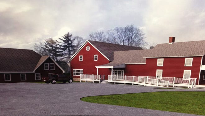 A rendering of the agriculture development center that is expected to open on the Cornell Cooperative Extension campus in the Town of Dickinson in November.