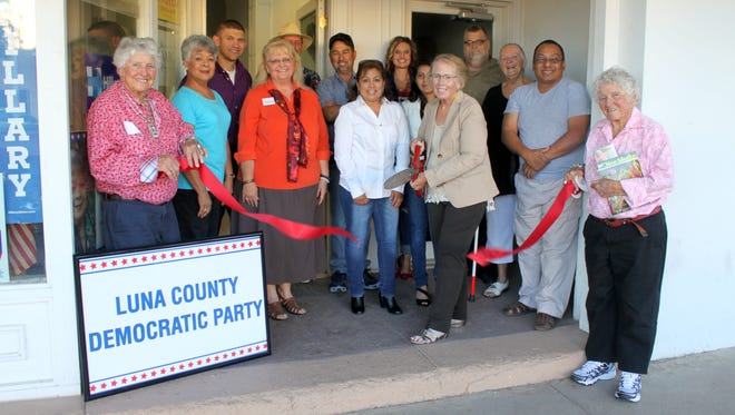 Members of the Luna County Democratic Party and the Deming-Luna County Chamber of Commerce were on hand Tuesday for a ribbon cutting ceremony at the new headquarters located at 122 S. Silver Avenue. The party is also a new member of the chamber. Business hours for the headquarters are 10 a.m. to noon and 2-4 p.m., Monday through Friday. Contact information will be posted on the window, or email mlcameron48@gmail.com.