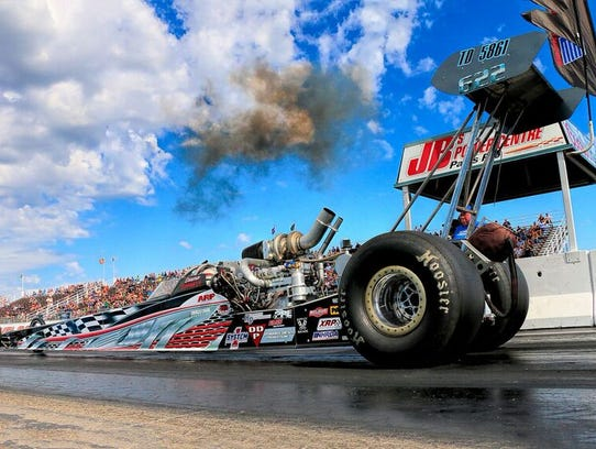 Dawna Kraus' Top Diesel Dragster, which she drove to