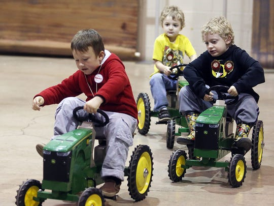 Kids can race tractors during Oregon Ag Fest this weekend at the Oregon State Fairgrounds.