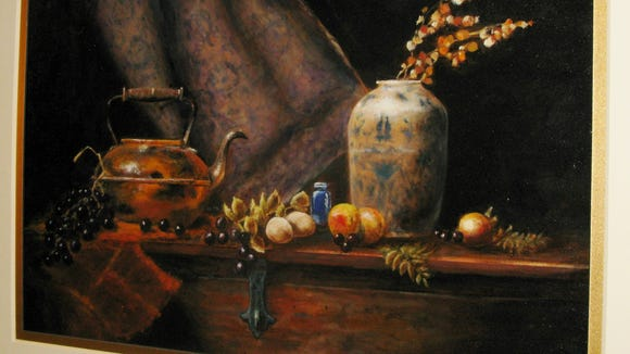"""A painting by Fred Smith titled """"Still"""" which I assume means """"Still Life."""" It took my breath away so I had to return later for another look."""