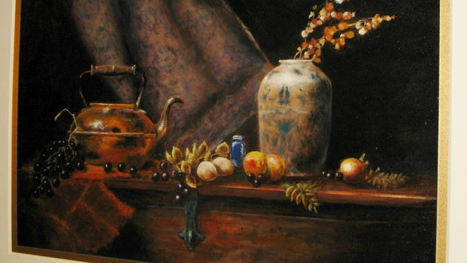 "A painting by Fred Smith titled ""Still"" which I assume means ""Still Life."" It took my breath away so I had to return later for another look."