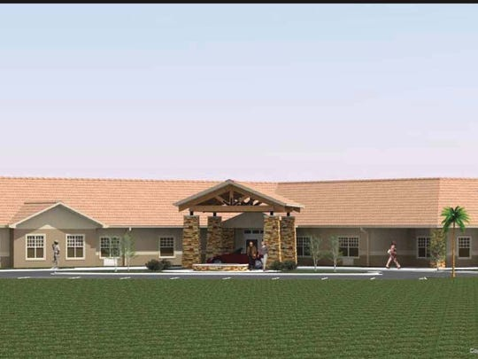 An artist's rendering shows Mesa Valley Estates Assisted Living and Memory Care facility, which is expected to open in Mesquite in summer 2019.