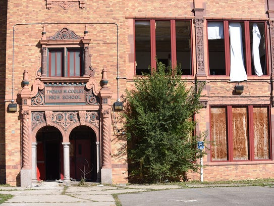 The exterior of Cooley High School on Sunday. The school