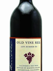Marietta Cellars Old Vine Red Lot 61 Non Vintage, photo shows lot 60