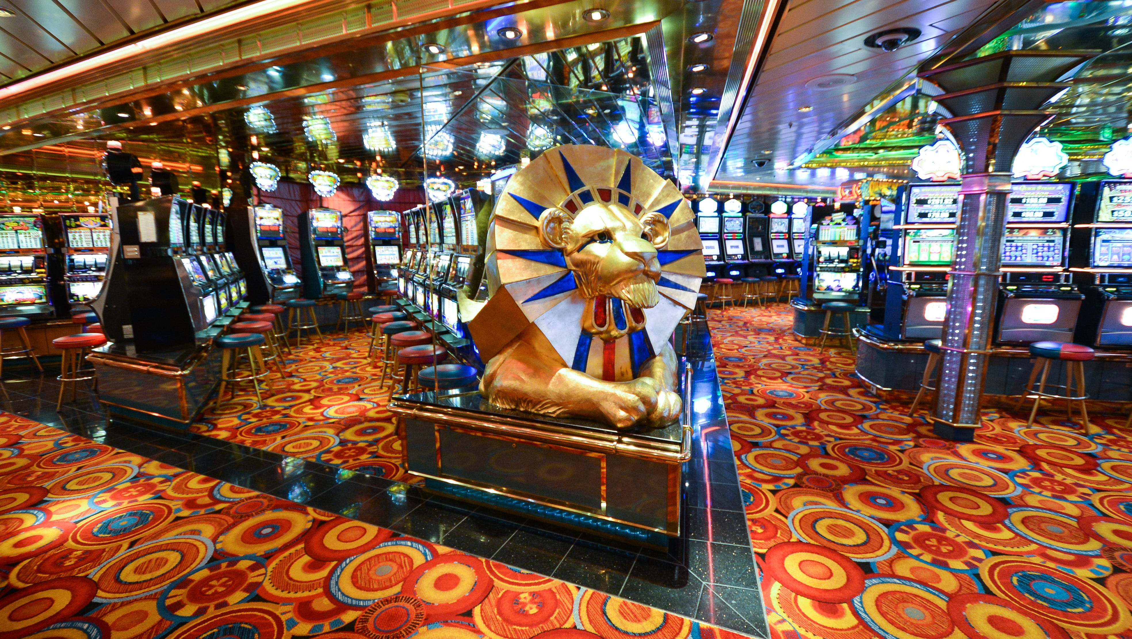 Casino Royale is big enough to hold nearly 300 people at a time and features both table games and slot machines.