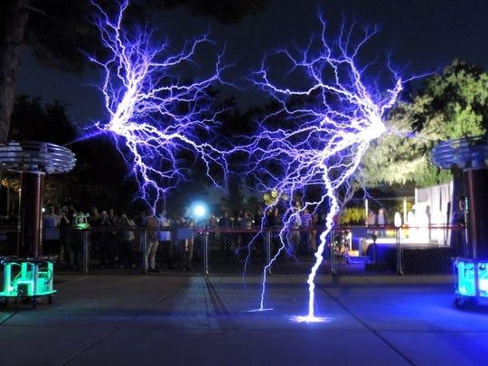 Eric Goodchild's Plasma Phonic uses Tesla coils and