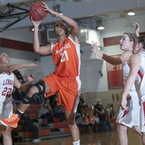 Cherokee's Taylor McGlashen goes up for a shot in a game against Lenape on Feb. 5.