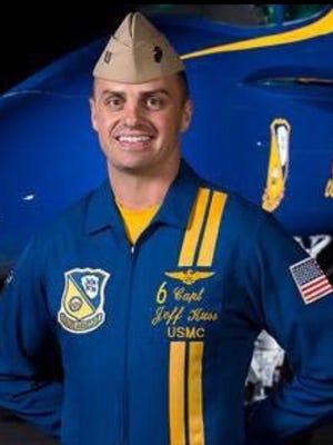 U.S. Navy Blue Angels pilot Marine Capt. Jeff Kuss