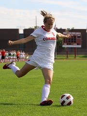 Xandra Hompe played soccer and hockey at Cornell.