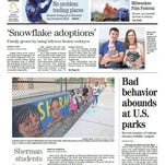Journal Sentinel front page for Aug. 10, 2016.