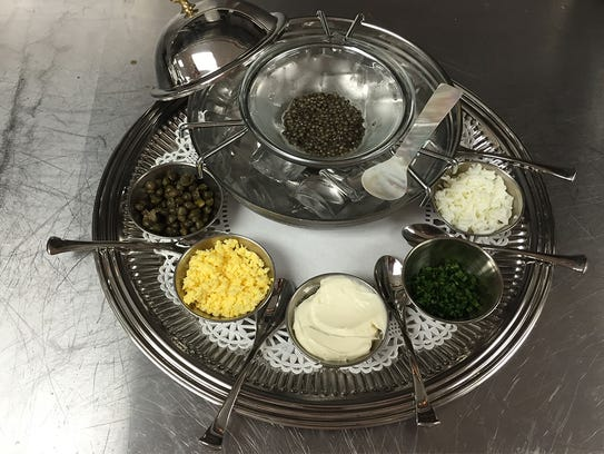 Caviar with traditional accompaniments from Fromagerie