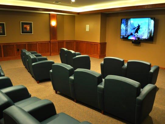 The senior center's amenities include a theater, salon