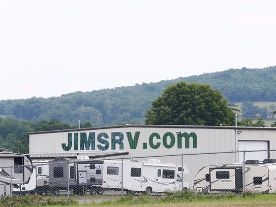 Jim's RV Center in Nichols is one of the town's largest