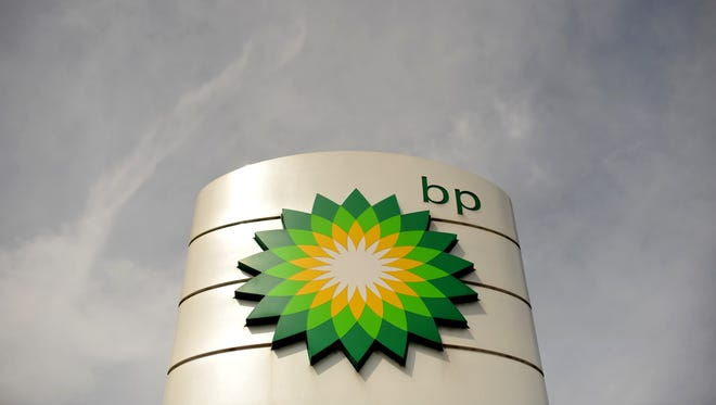 This April 27, 2010 file photo shows a BP petrol station in Bournemouth, in southern England.