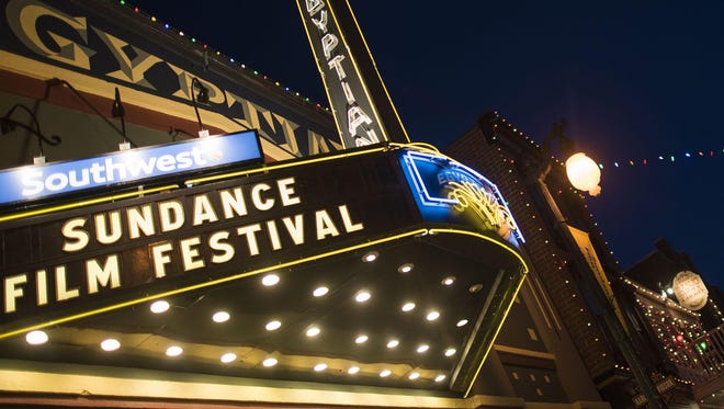 The Egyptian Theatre on Main Street in Park City, Utah, beckons visitors during the first day of the 2015 Sundance Film.