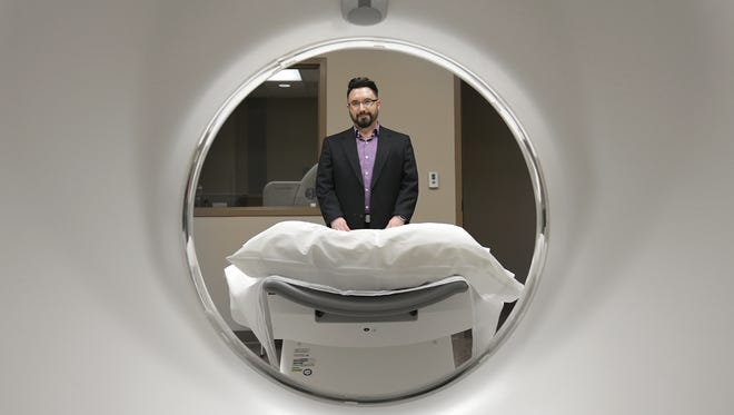Then-Complete Care Community Hospital Administrator David Barquera showed an imaging room during the February opening of the microhospital at 4642 N. Mesa St. in West El Paso. The hospital closed Aug. 12.