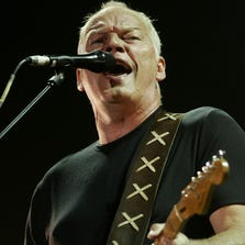 Pink Floyd frontman David Gilmour performs at the Gdansk shipyard in Gdansk, Poland, in 2006.