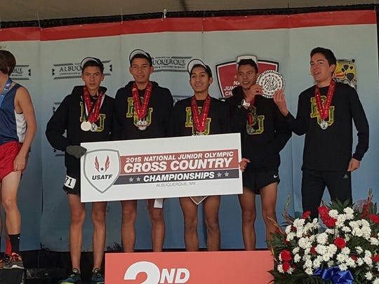 The Border United boys team of  Erik Arambula, Ulises Cardoza, Michael Contreras, Miguel Garcia and Ryan Solorzano, placed second in the nation.