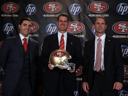 Jim Harbaugh Introduced As 49ers Head Coach