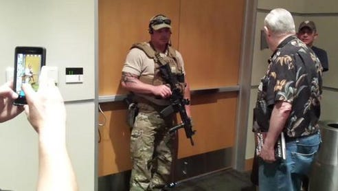 SWAT members ordered attendees at an art exhibit in Garland, Texas, Sunday afternoon to shelter in place after a shooting Sunday afternoon at the Curtis Culwell Center.
