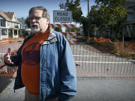 The ongoing saga of E Cherry Street and Grant continues as another small hole emerged this week. The small sinkhole, which has already been filled, raised some concern for neighbors around the cordoned block. Palmyra councilman Ralph Watts encourages patience. Michael K. Dakota - Lebanon Daily News
