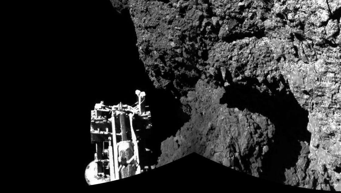 Comet Probe S Solar Panels Caught In Cliff S Shadow